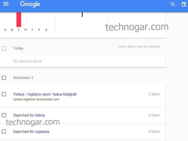google arama geçmişi silmek